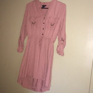 Dusty Pink High Low Dress